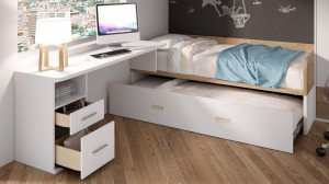 Decoraci n de dormitorios juveniles cehome - Camas nido de 105 cm ...