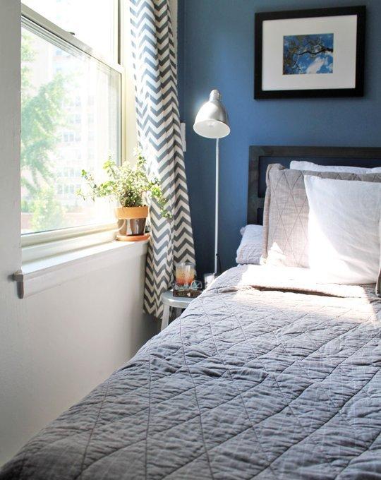decoracion de dormitorios de matrimonio azul