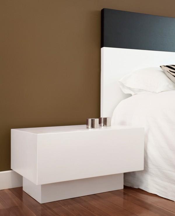 Habitaci n de matrimonio moderna mobiliario cehome for Mesillas de habitacion